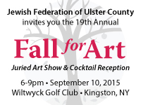 "September 10, 2015 - ""Fall for Art"" at Wiltwyck Golf Cul, Kingston, NY sponsored by Jewish Federation of Ulster County"