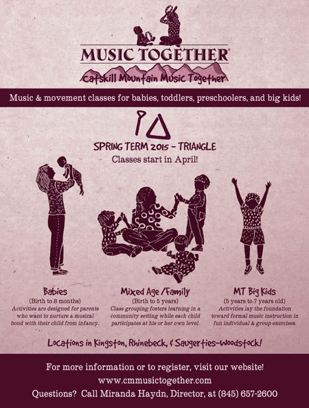 Catskill Mountain Music Together Spring Classes Start In April