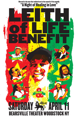 "April 11 - ""Leith of Life: Reggae Benefit Concert for Leith Rogovin"""