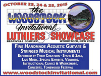 October 23,24,25, 2015 - The Woodstock Invitational Luthiers Showcase
